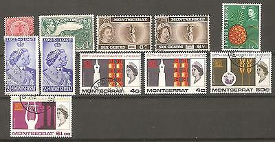 Montserrat: A Selection of Eleven Mint & Used Stamps