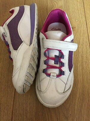 girls clarks trainers 13.5G