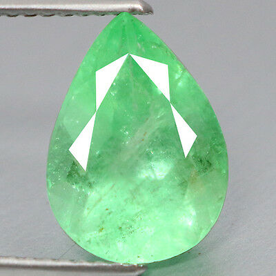 3.64 Ct Mind Blowing ~ Dazzling Rearest 100% Natural Green Colombian Emerald