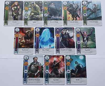 GWENT CARDS (NEW 12 ADDITIONAL CARDS) Witcher 3 Wild Hunt (ENG EDITION)