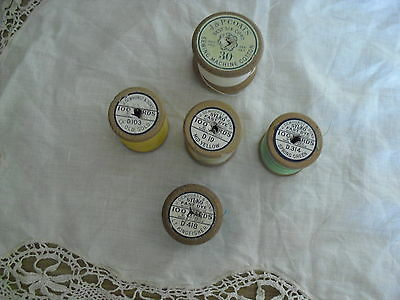 Vintage Wooden Cotton Reels  - 5 In Total (4 Sylco & 1 Coats)