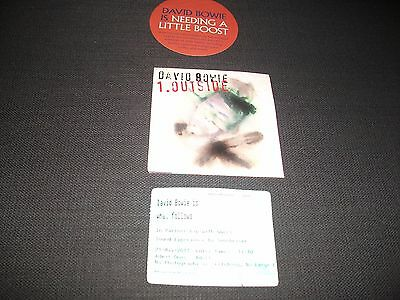 david bowie promotion item and stub