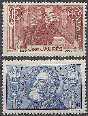 France Jean Jaures N°318 + N°319 Neuf ** Luxe Gomme D'origine Mnh