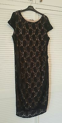Dorothy Perkins maternity dress- size 18 - Black lace