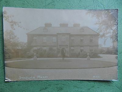 Old Real Photo Postcard - Dronfield Manor , Derbyshire