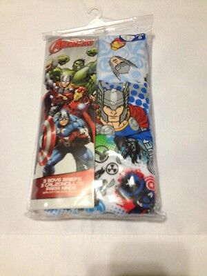 The Avengers Size 8 Marvel Heroes 3-Pack 100% Cotton Brief NIP