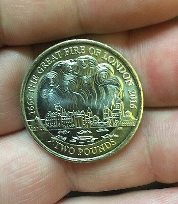 Great Fire Of London 2 Pound Coin 2016