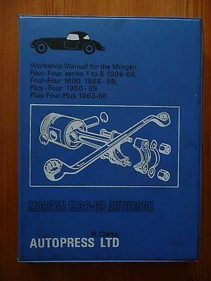 VINTAGE MORGAN WORKSHOP MANUAL 1936-1969  AUTO PRESS GOOD - 2nd Ed 1970 ORIGINAL