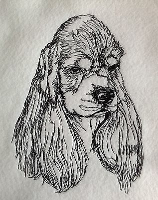 NEW Completed Embroidery American Cocker Spaniel Puppy