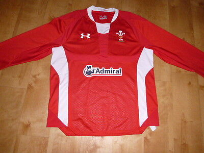 Under Armour Wales Rugby Shirt 44 Chest