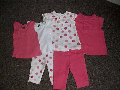 baby girls up to 1 month 6 piece set