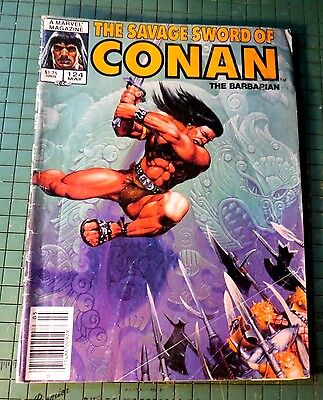 The Savage Sword of Conan #124 copper age Comic Mag Format Sh1