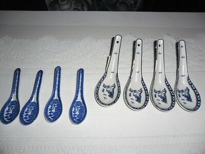 Blue Willow Spoons, 2 X Different Sizes.