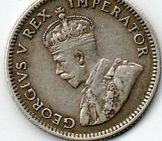 1934  Silver ,6d / Six Pence coin of South Africa. King George V - Nice. Coin