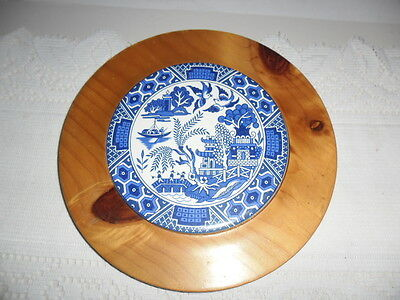 Blue Willow Cheese Board Or Pot Holder