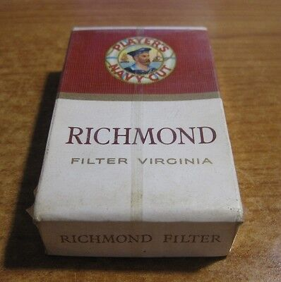 Richmond Players Navy Cigarettes Vintage Unopened - Live / New Old Stock 10 Pack