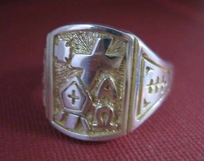 Solid silver ring for Bishop and Priest - 23772