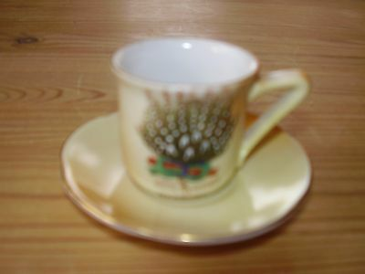 Miniature Cup and Saucer Gift From Banbury (VGC)