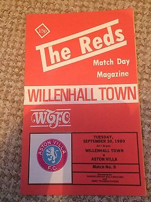 WILLENHALL TOWN v ASTON VILLA  FRIENDLY 30/09/1980  SWITCHING ON OF FLOODLIGHTS