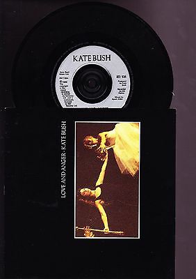 Kate Bush 7 Inch Vinyl Record - Love and Anger Standard Release