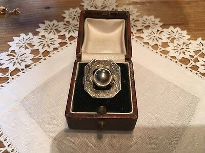 Vintage Costume Jewellery Ring Silver tone Chunky  Shop Stock Pre 1970s