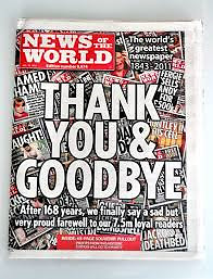 10 copies of News of the World final (last) edition Newspaper