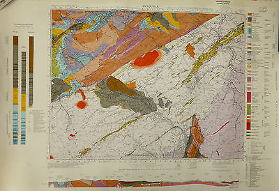 Map, Sanquhar Geological Survey map, First Surveyed 1870, this edition 1967