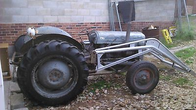 Massey Ferguson tef tractor gray fergie with loader t20