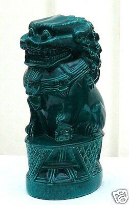 Large Vintage/Antique Chinese Foo Dog Chinese Imperial Guardian Lion Jade Colour