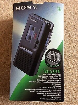Sony M629V microcassette pocket voice recorder dictaphone & 6 tapes