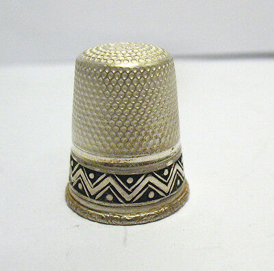 Antique Sterling Silver Thimble Germany #10 Item 2  3.7 Grams