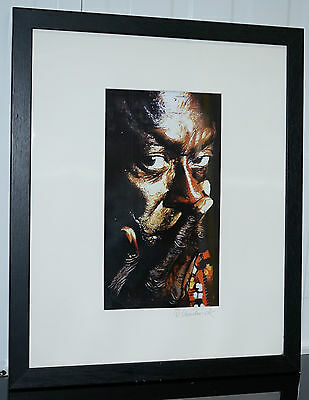 Signed Ron Chadwick Miles Davis Lithograph Print A Stunning Representation
