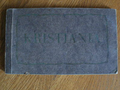 """Antique Postcard Booklet """" KRISTIANIA """"  - Mittet & Co. (17 out of 20 Postcards)"""