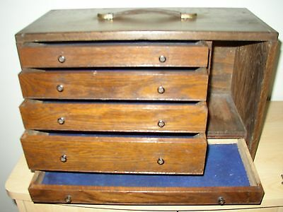 Engineers / Tool Makers Cabinet Antique Wooden Toolbox