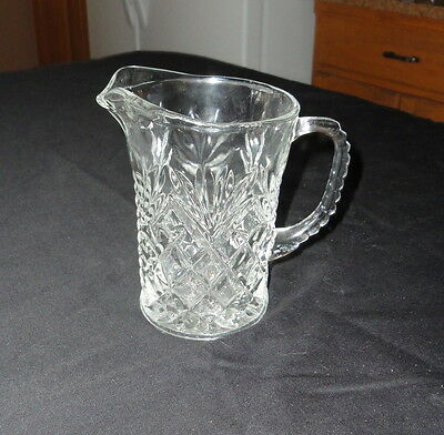 Prescut EAPC Pineapple Pitcher 12 fl oz Milk Anchor Hocking Glass Co