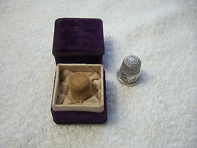 Antique Sterling Silver #10 Sewing Thimble Engraved Goldsmith Stern 1912-1916