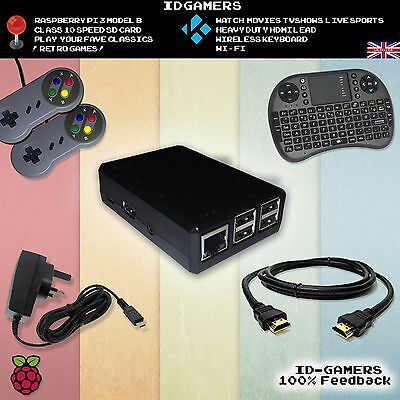 Retro Game Raspberry Pi 3 emulator console fully loaded + Pads + HDMI + Keyboard