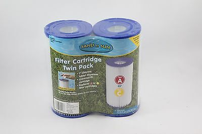 Sand N Sun Filter Cartridge Twin Pack Type A or C