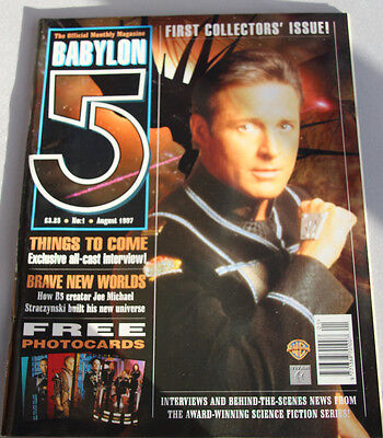 Rare  Babylon 5 First Collectors Issue Issue No#1 Aug 97  The Official  Magazine