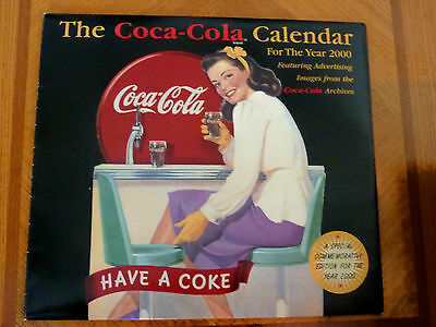2000 Coca Cola calendar COMMMEMORATIVE W/advertising images from the archives