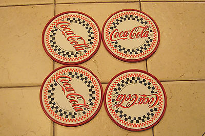1996 Coca Cola Set Of 4 Plastic Coasters New No Packaging