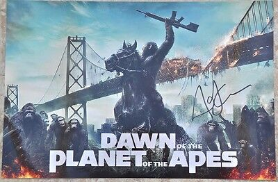 "Andy Serkis Signed 12"" x 8"" Colour Photo Dawn Of The Planet Of The Apes"