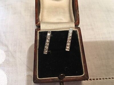 18ct White And Yellow Gold Earrings Hallmarked Stamped 3.13g