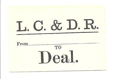 London Chatham & Dover Railway Lc&dr Luggage Label To Deal