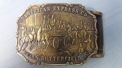 Vintage Large Buckle American Express Co Wells Butterfield Co
