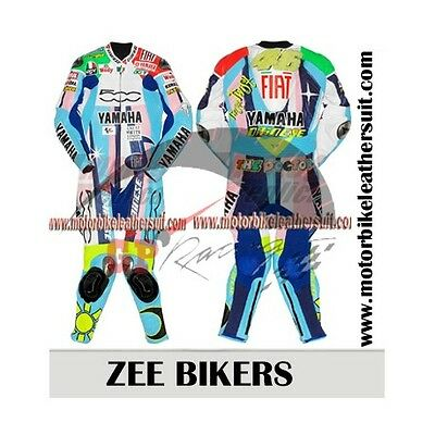Valentino Rossi 46 Motorbike Leather Suit Motorcycle Custom CE Armoured Any Size