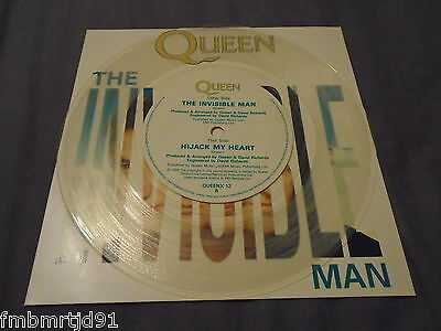 """Queen - The Invisible Man 7"""" Clear Vinyl (Freddie Mercury Brian May Roger Taylor"""
