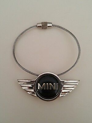 Mini Cooper Logo Keychain metal wire key ring wings accessory