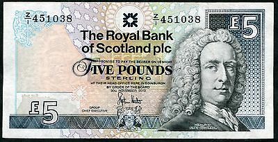 SCOTLAND   Royal Bank   £5   2010    REPLACEMENT   Z/1       HESTER