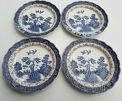4 vintage  Booths Real Old Willow side plates, A 8025